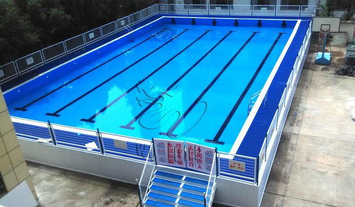 支架式拆裝平臺游泳池夏季戲水游樂新游泳健身設備圖片